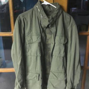 Old Navy Army Green Military Style Coat w/Hood